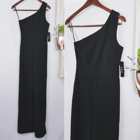 3606e0ec3c11 Dance Til Daylight Black One-Shoulder Jumpsuit